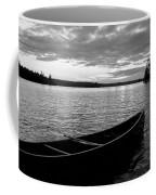 Abandoned Canoe Floating On Water Coffee Mug