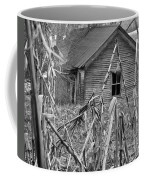 Abandoned Farmhouse Through Cornfield Coffee Mug