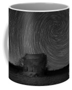 Abandoned House Spiral Star Trail Bw  Coffee Mug