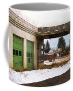 Abandoned Service Station Painterly Impressions Coffee Mug