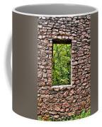 Abandoned Stone Wall With Window Coffee Mug