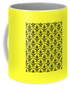 Abby Damask In Black Pattern 05-p0113 Coffee Mug