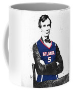 Abe Lincoln In A Josh Smith Atlanta Hawks Jersey Coffee Mug