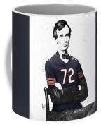 Abe Lincoln In A William Perry Chicago Bears Jersey Coffee Mug