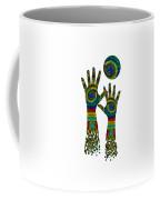 Aboriginal Hands Gold Transparent Background Coffee Mug