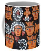 Aboriginal Painted Wood Carvings Coffee Mug
