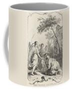 Abraham Kneeling Before The Three Angels Coffee Mug