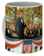 Abraham Lincoln And Stephen A Douglas Debating At Charleston Coffee Mug by Robert Marshall Root