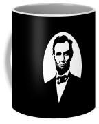 Abraham Lincoln - Black And White Coffee Mug