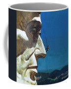 Abraham Lincoln's Nose On The Mount Rushmore National Memorial  Coffee Mug