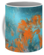 Abstract 104 Digital Oil Painting On Canvas Full Of Texture And Brig Coffee Mug