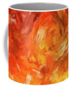 Abstract 106 Digital Oil Painting On Canvas Full Of Texture And Brig Coffee Mug