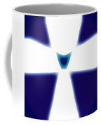 Abstract 33 Blue White Glow Coffee Mug