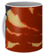 Abstract American Flag - Red, White And Blue The Star Spangled Banner Coffee Mug by Adam Asar