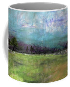 Abstract Aqua Sky Landscape Coffee Mug