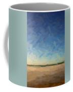 Abstract Art Beach, Ca 2017, By Adam Asar Coffee Mug