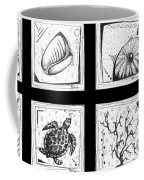 Abstract Art Contemporary Coastal Sea Shell Sketch Collection By Madart Coffee Mug by Megan Duncanson