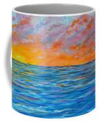 Abstract Art- Flaming Ocean Coffee Mug