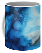 Abstract Art Original Blue Pianting Underwater Blues By Madart Coffee Mug by Megan Duncanson