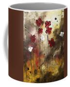 Abstract Art Original Flower Painting Floral Arrangement By Madart Coffee Mug