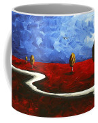 Abstract Art Original Landscape Painting Winding Road By Madart Coffee Mug