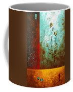 Abstract Art Original Poppy Flower Painting Subtle Changes By Madart Coffee Mug