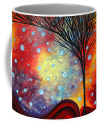 Abstract Art Whimsical Landscape Painting Morning Bliss By Madart Coffee Mug
