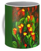 Abstract Arum Lilies Coffee Mug