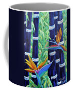Abstract Bamboo And Birds Of Paradise 04 Coffee Mug