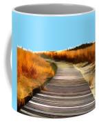 Abstract Beach Dune Boardwalk Coffee Mug