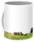 Abstract Beautiful Tree And Landscape On Colorful Watercolor Painting Background. Coffee Mug
