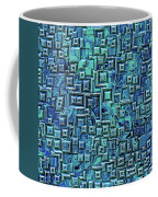 Abstract Blue And Green Pattern Coffee Mug