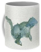 Abstract Blue Squirrel Coffee Mug
