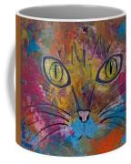 Abstract Cat Meow Coffee Mug