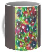 Abstract Circles With Flowers Coffee Mug