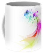 Abstract Colorful Curved Coffee Mug