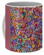 Abstract Colorful Flowers 4 Coffee Mug
