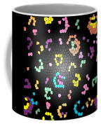 Abstract Creation With Small Shapes Colourful Coffee Mug