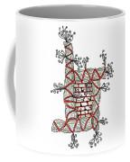 Abstract Design Of Stumps And Bricks Coffee Mug