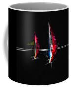 Abstract Digital Boats Coffee Mug
