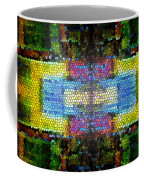 Abstract Digital Shapes Colourful Stained Glass Texture Coffee Mug