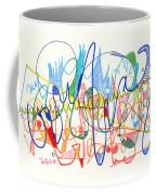 Abstract Drawing Two Coffee Mug