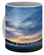 Abstract Early Morning Sunrise Over Farm Land Coffee Mug