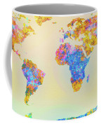 Abstract Earth Map 2 Coffee Mug by Bob Orsillo