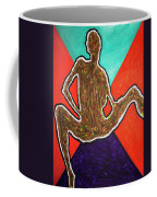 Abstract Ebony Nude Sitting Coffee Mug