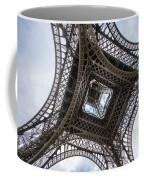 Abstract Eiffel Tower Looking Up 2 Coffee Mug