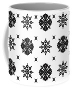 Abstract Ethnic Seamless Floral Pattern Design Coffee Mug