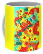Abstract Floral Fantasy Panel A Coffee Mug