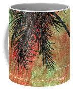 Abstract Floral Fauna Palm Tree Leaf Tropical Palm Splash Abstract Art By Megan Duncanson  Coffee Mug