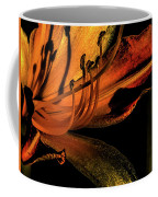 Abstract Flower Golden Red Coffee Mug
